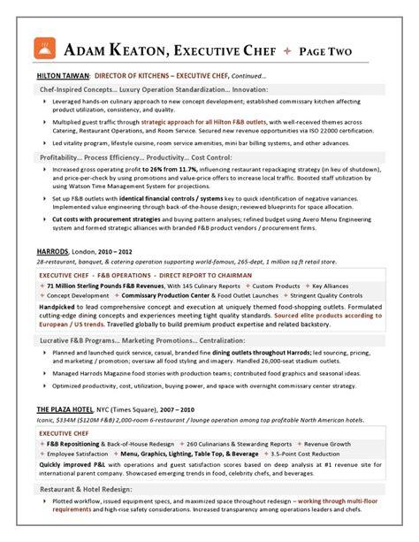 22234 executive chef resume template award nominated executive chef sle resume executive