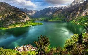Landscape, Eutrophic, Lake, Mountain, Wallpaper, Hd