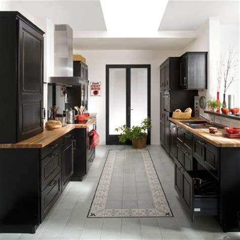 cuisine bistrot ikea cuisine bistro noir en bouleau massif lapeyre