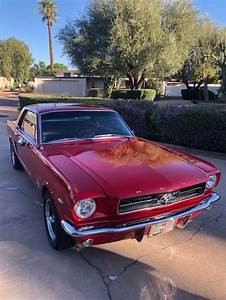 1st gen Cherry Red 1965 Ford Mustang V8 automatic For Sale - MustangCarPlace