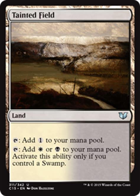 Oloro Commander Deck 2015 by Tainted Field Land Cards Mtg Salvation