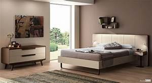 chambre a coucher style contemporain metal bois With style chambre a coucher