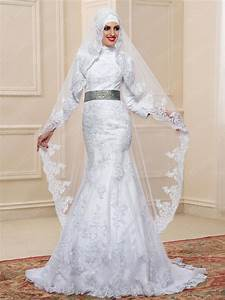 elegant high neck applique trumpet mermaid floor length With muslim wedding bridesmaid dresses