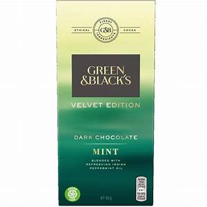 Calories In Green Black 39 S Velvet Edition Dark Chocolate Mint