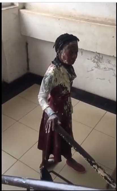 Lady doused with flour and water after being caught ...