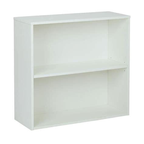 white two shelf pro line ii prado white open bookcase prd3230 wh the