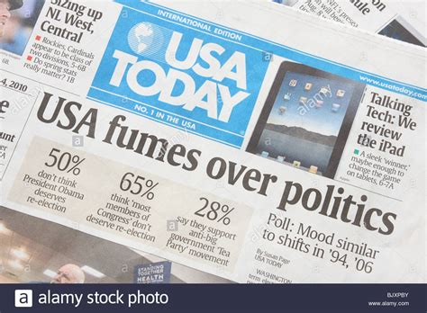 Political headlines in the International Edition of the ...