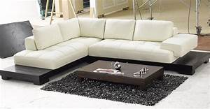 white leather low profile sectional chaise lounge sofa bed With white leather sectional sofa bed