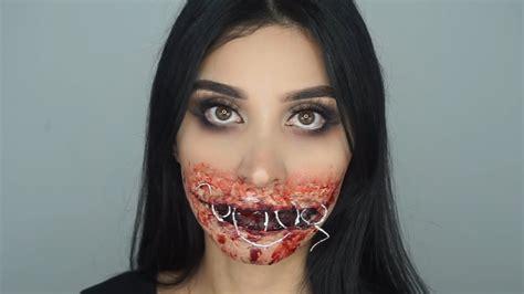 foto de Sewed Shut Mouth SFX Halloween Makeup Tutorial 💀 YouTube