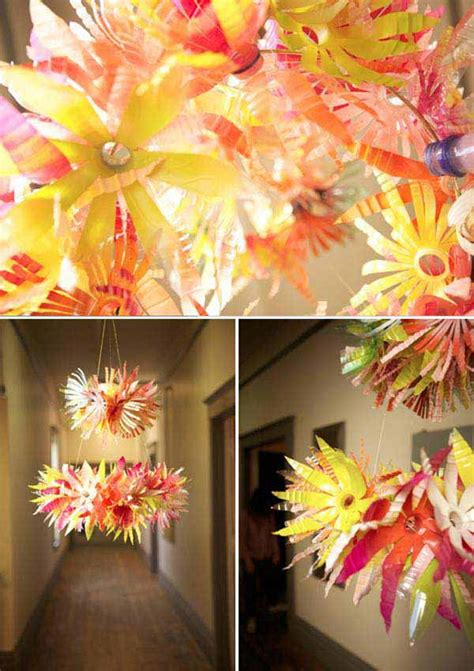 diy decorating ideas  recycled plastic bottles