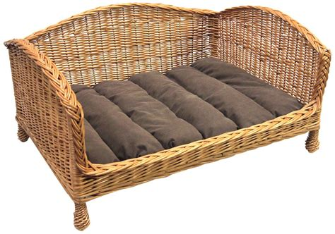 Bed Settee Uk by Prestige Wicker Pet Bed Settee With Cushion Raised To