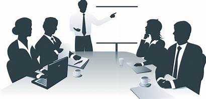 Clip Office Clipart Meeting Management Transparent Scene