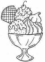 Ice Cream Coloring Pages Icecream Print Food sketch template