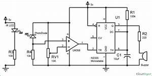 Infrared Security Alarm Circuit Diagram In 2019