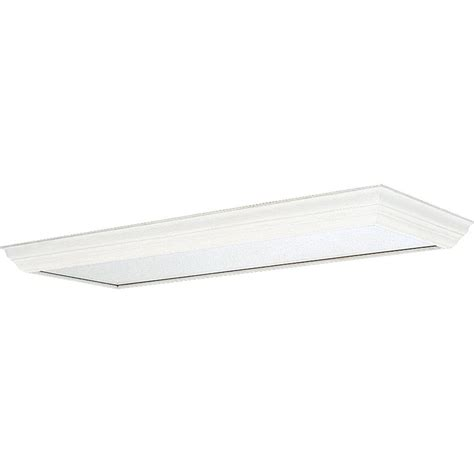 progress lighting white fluorescent fixture diffuser p7274