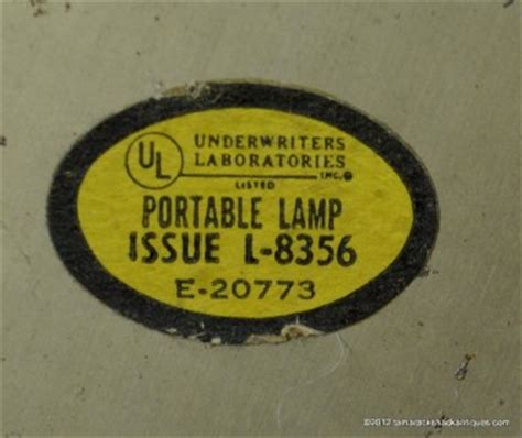 underwriters laboratories portable l issue no vintage brass underwriters laboratories portable student
