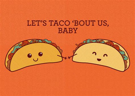 Let's Taco Bout Us, Baby  Food Pun From Tiny Bee Cards