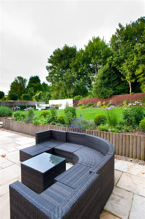 landscape seating garden seating area kent millhouse landscapes