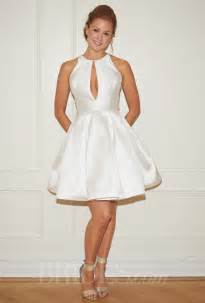 dresses for wedding randi rahm fall 2014 quot cocktail quot knee length a line wedding dress with high neckline