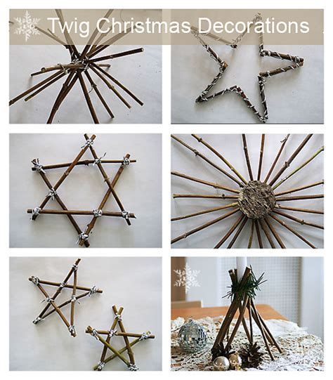 christmas twig decorations make your own twig decorations