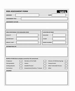 sample management risk assessment forms 7 free With documents for risk management