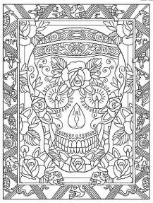 Creative Haven Day of the Dead Coloring Pages