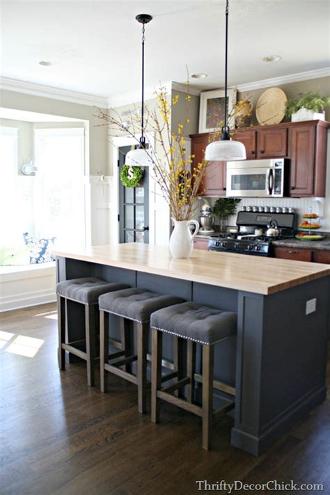 decorate kitchen island open shelving would it work for you from thrifty decor