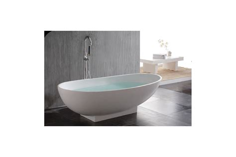baignoire ilot ovale en solid surface bomia pbmw009 prodigg
