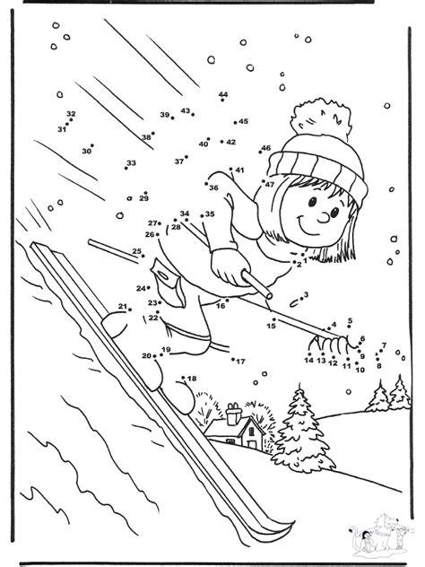 malen nach zahlen ski malvorlagen wintersport