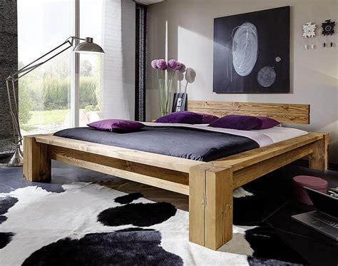 Massivholz Balkenbett Überlänge 200x220 Bett Aus Balken