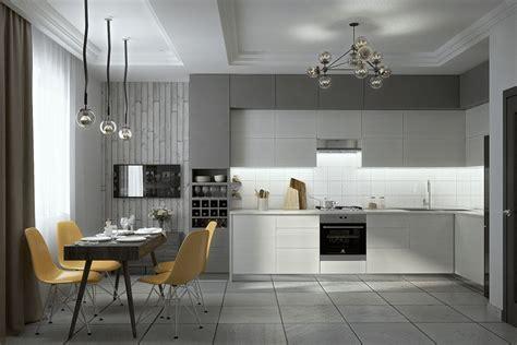 cuisines blanches et grises 30 cuisines grises et blanches déco et design deco tendency