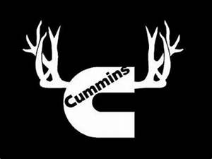 Cummins Window Decal With Antlers 9 Inch