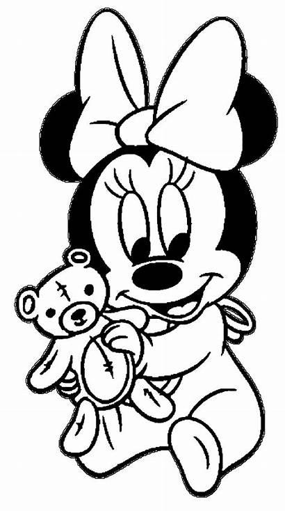Mouse Minnie Mickey Coloring Kleurplaat Sean