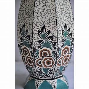 Motif Art Deco : lampe de table poque art d co en c ramique motif floral ~ Melissatoandfro.com Idées de Décoration