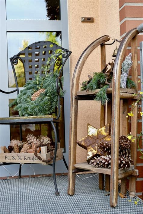 weihnachtsdeko im außenbereich winterdeko im au 223 enbereich deko herbst dekoration weihnachten drau 223 en deko haust 252 r