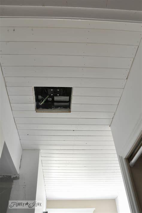 plank  bathroom ceilingfunky junk interiors