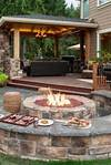 Backyard Fire Pit Ideas and Designs for Your Yard, Deck or outdoor patio with fire pit designs