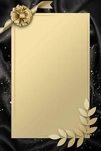 Simple Invitation Card Gold Black In 2020
