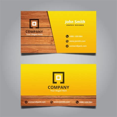card visit template psd wood creative modern wooden business card vector free download