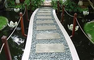 Gartenwege Aus Kies : gartenweg anlegen pflastern kies steine holz kosten ~ Watch28wear.com Haus und Dekorationen