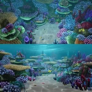 Cartoon underwater scene 3D model - TurboSquid 1214277