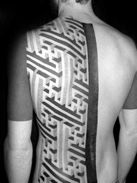 Guys With Tribal Tattoos maze tattoo designs  men geometric puzzle ink ideas 500 x 667 · jpeg