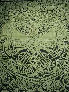 Celtic Tree of Life Infinity Knot Druid Pagan Tapestry