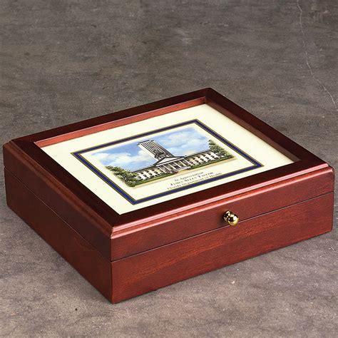 levenger wooden desk personalized college desk box commeorative box levenger