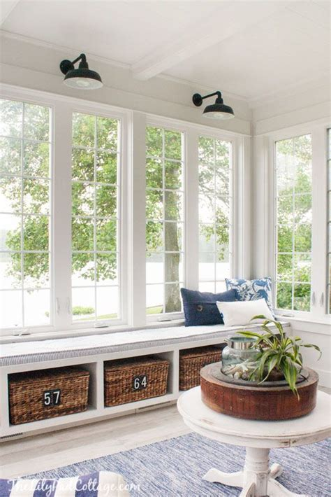 Window Sill Chair by Summer Home Tour Diy Home Decor Sunroom Decorating