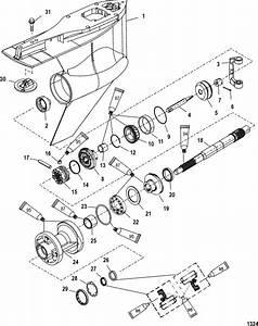 Mercury Marine 225 Hp  Dfi  3 0l Gear Housing  Propeller