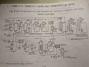 Solved  Interpretation Of Flow Diagram Of Terephthalic Aci