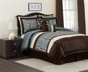 brown and blue bedding sets brown color combinations pinterest flower comforter sets and