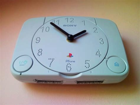 console template psx recycle playstation ps1 retro video game console wall clock 3