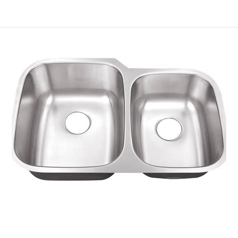 60 40 stainless steel sink belle foret undermount stainless steel 32 in 0 hole 60 40